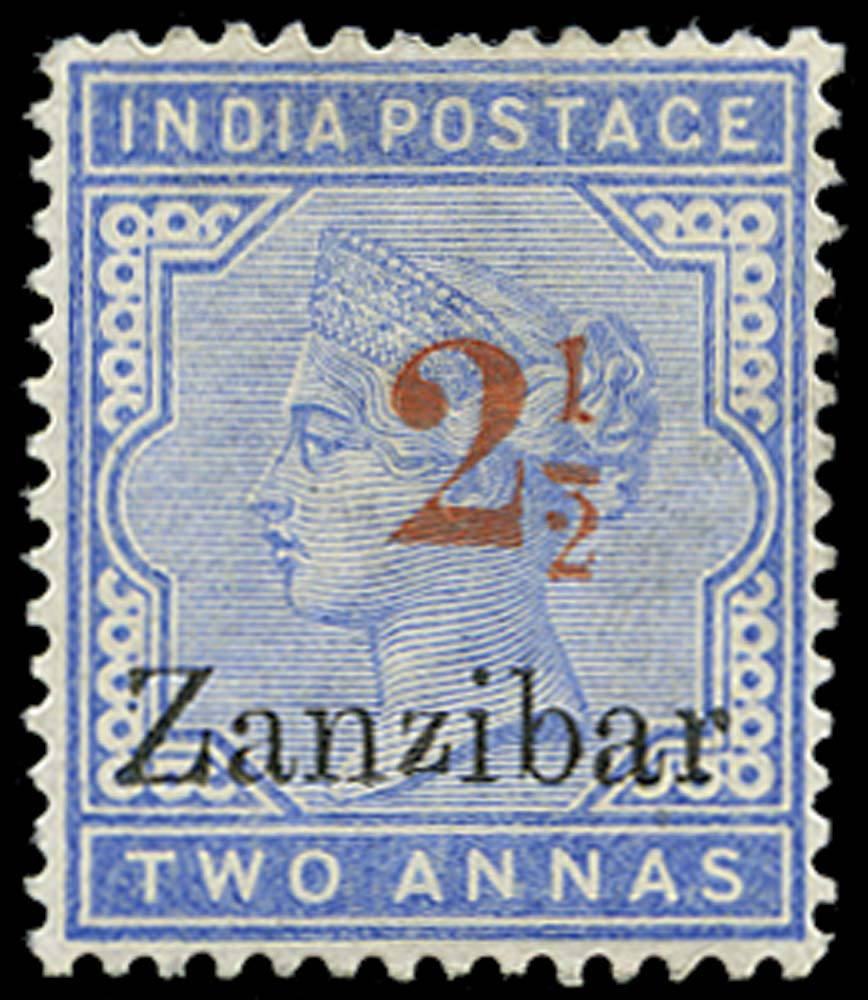 ZANZIBAR 1896  SG27D Mint
