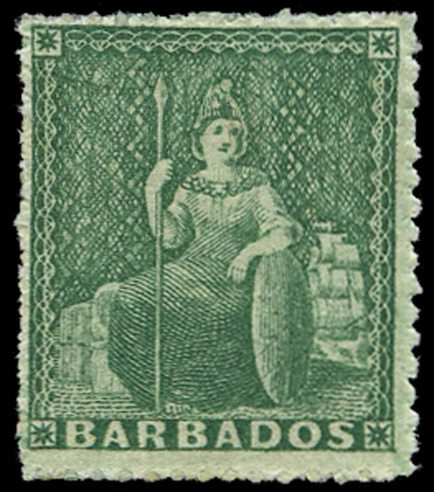 BARBADOS 1861  SG20 Mint