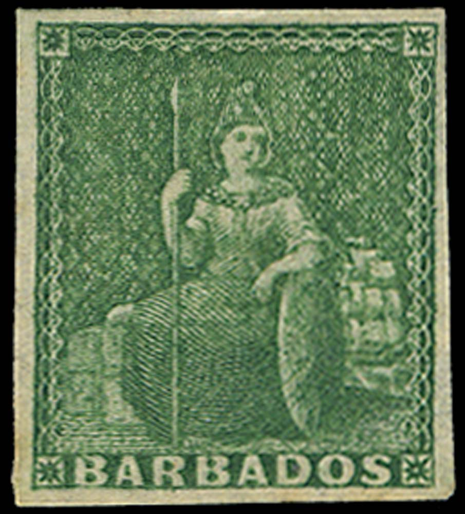 BARBADOS 1855  SG8 Mint