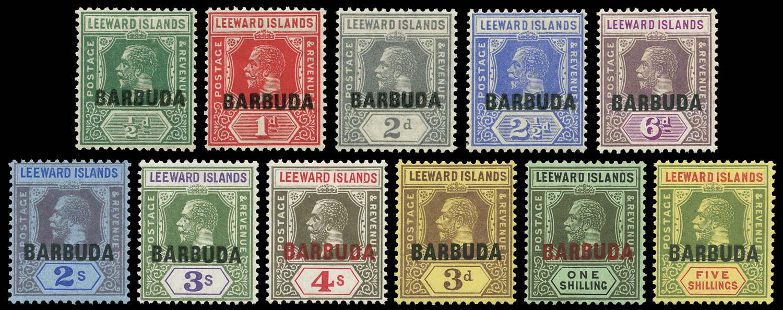 BARBUDA 1922  SG1/11 Mint