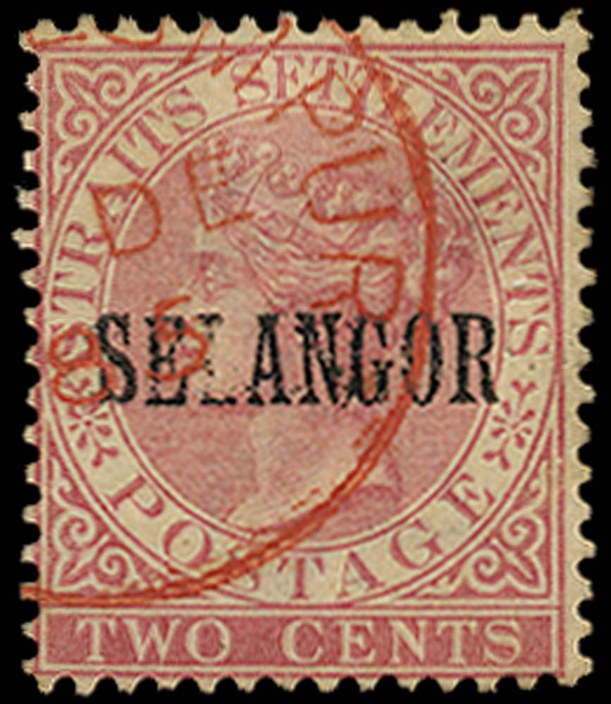 MALAYA - SELANGOR 1885  SG33 Used
