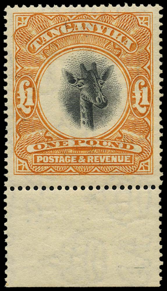TANGANYIKA 1922  SG88 Mint