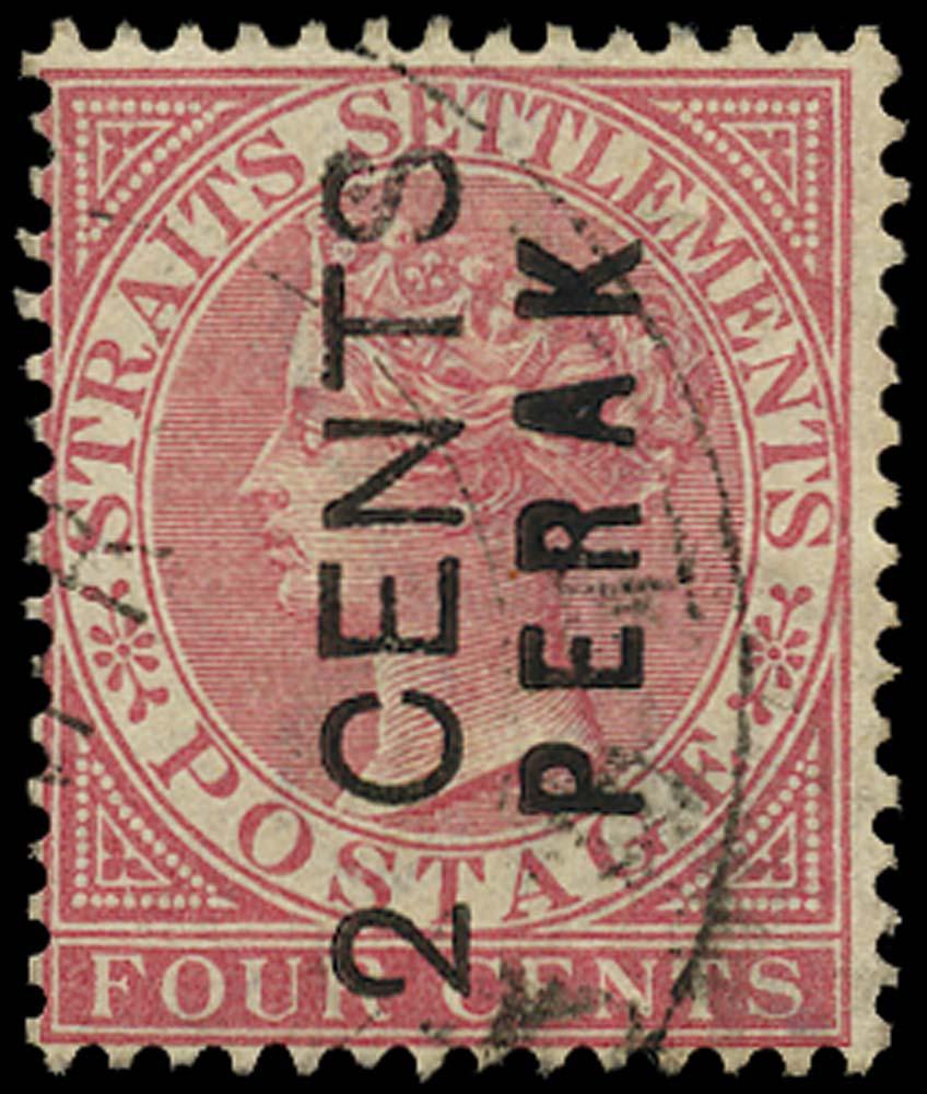 MALAYA - PERAK 1883  SG16 Used