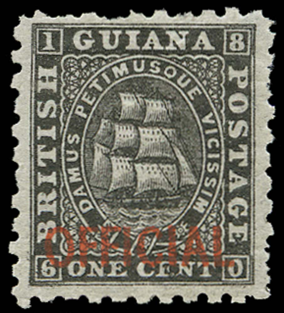 BRITISH GUIANA 1875  SGO1 Official