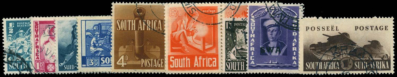 SOUTH AFRICA 1941  SG88/96 Used War Effort set to 1s3d