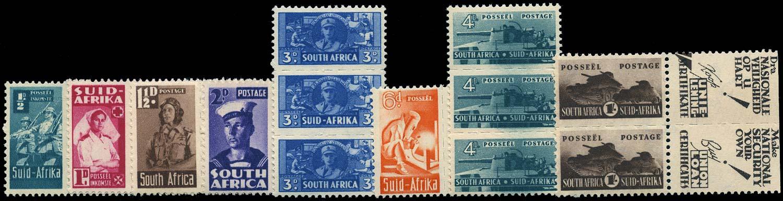 SOUTH AFRICA 1942  SG97/104 Mint War Effort set of 8 bantam units unmounted