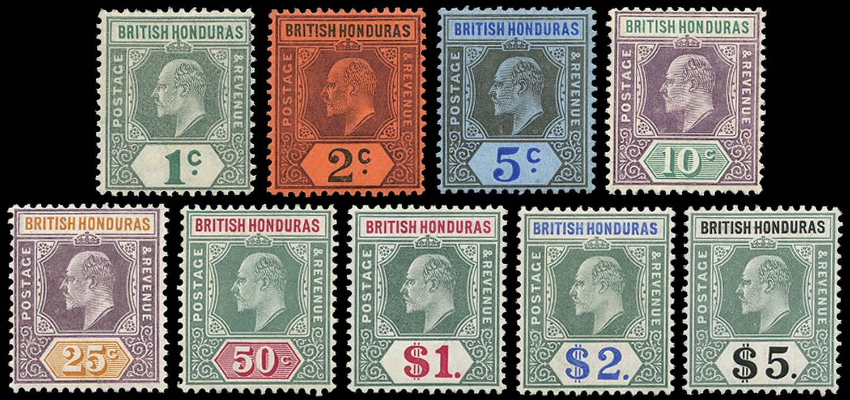 BRITISH HONDURAS 1904  SG84/93 Mint