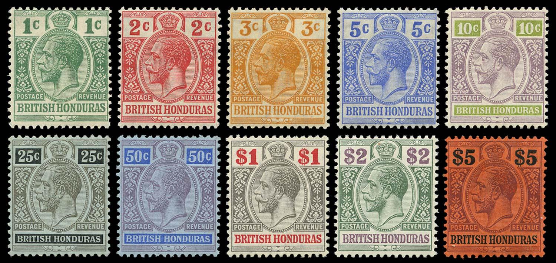 BRITISH HONDURAS 1904  SG101/10 Mint