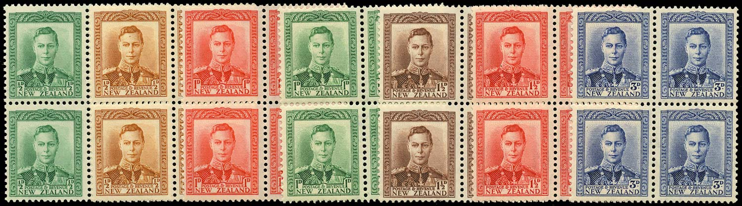 NEW ZEALAND 1938  SG603/9 Mint KGVI set of 7 to 3d unmounted