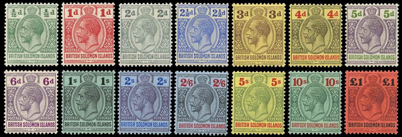 SOLOMON ISLANDS 1914  SG22/38 Mint