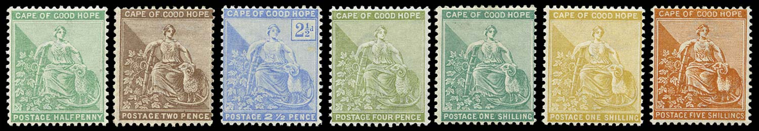 CAPE OF GOOD HOPE 1893  SG61/8 ex 64 Mint