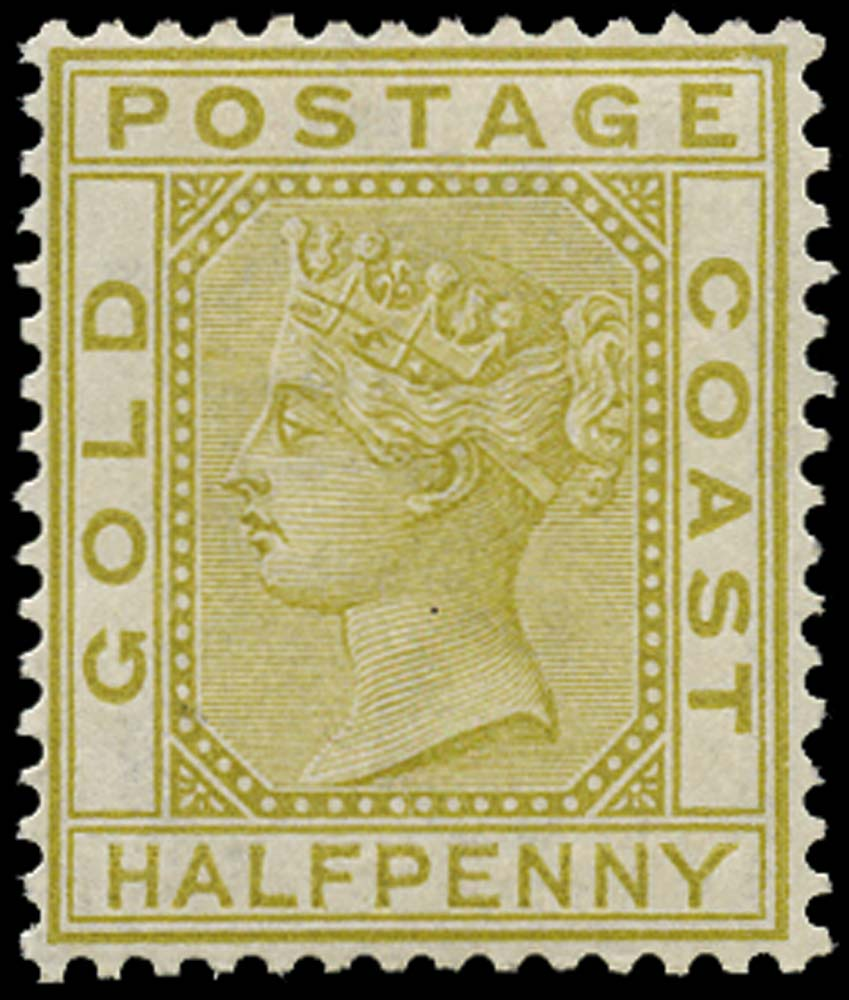 GOLD COAST 1876  SG4 Mint