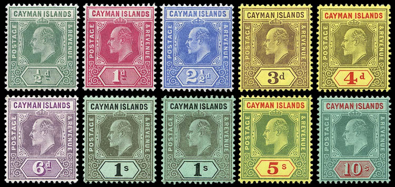 CAYMAN ISLANDS 1907  SG25/34 Mint
