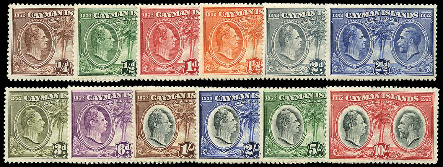CAYMAN ISLANDS 1935  SG84/95 Mint