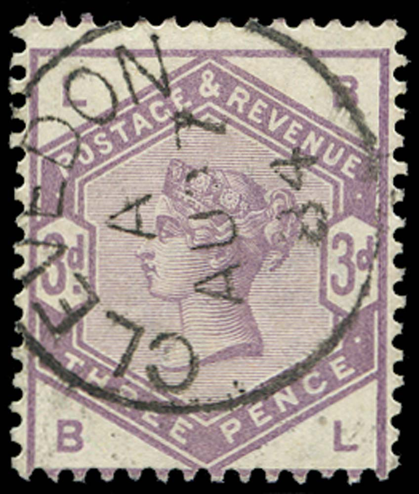 GB 1883  SG191 Used Clevedon cds