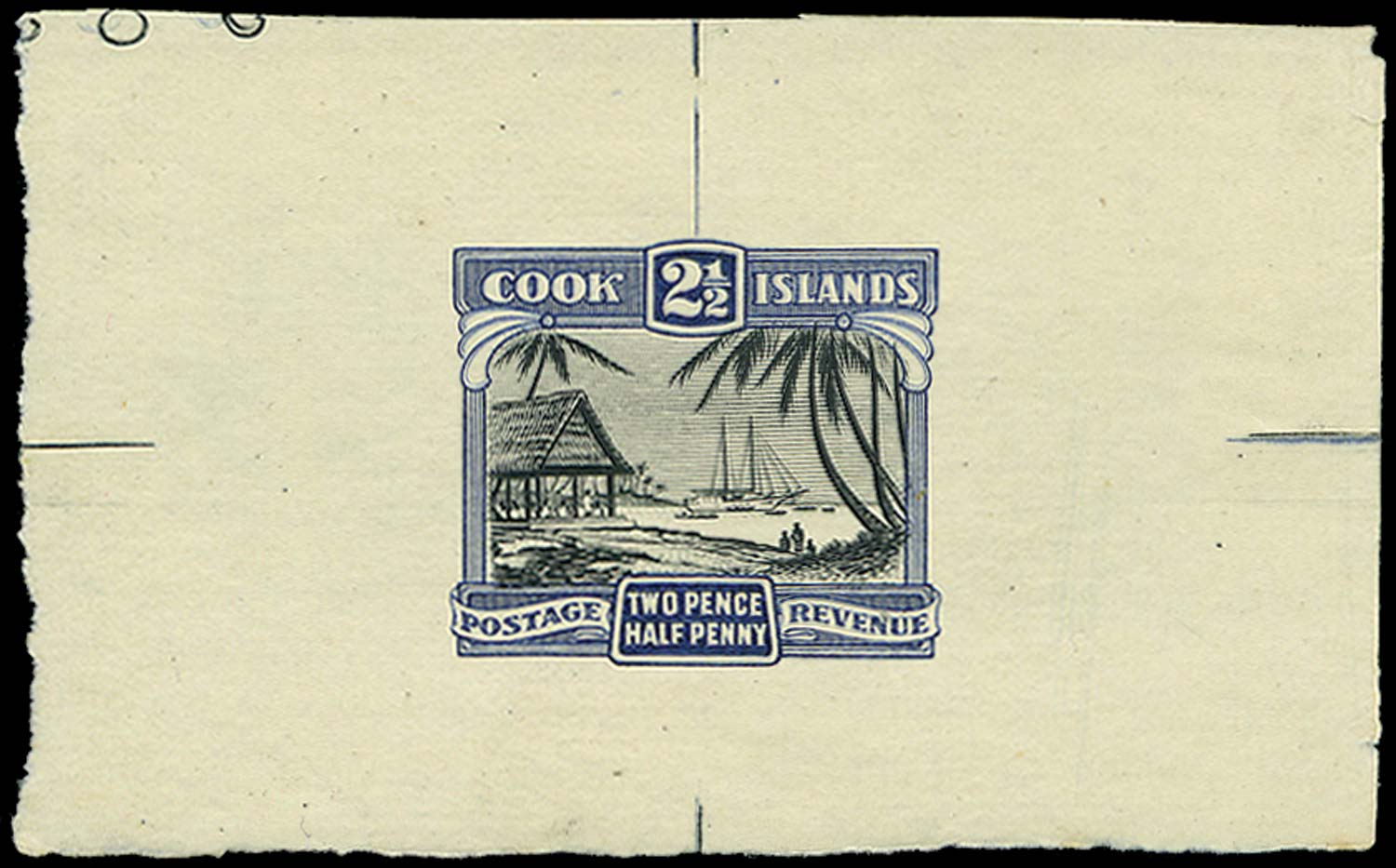 COOK ISLANDS 1932  SG102 Proof