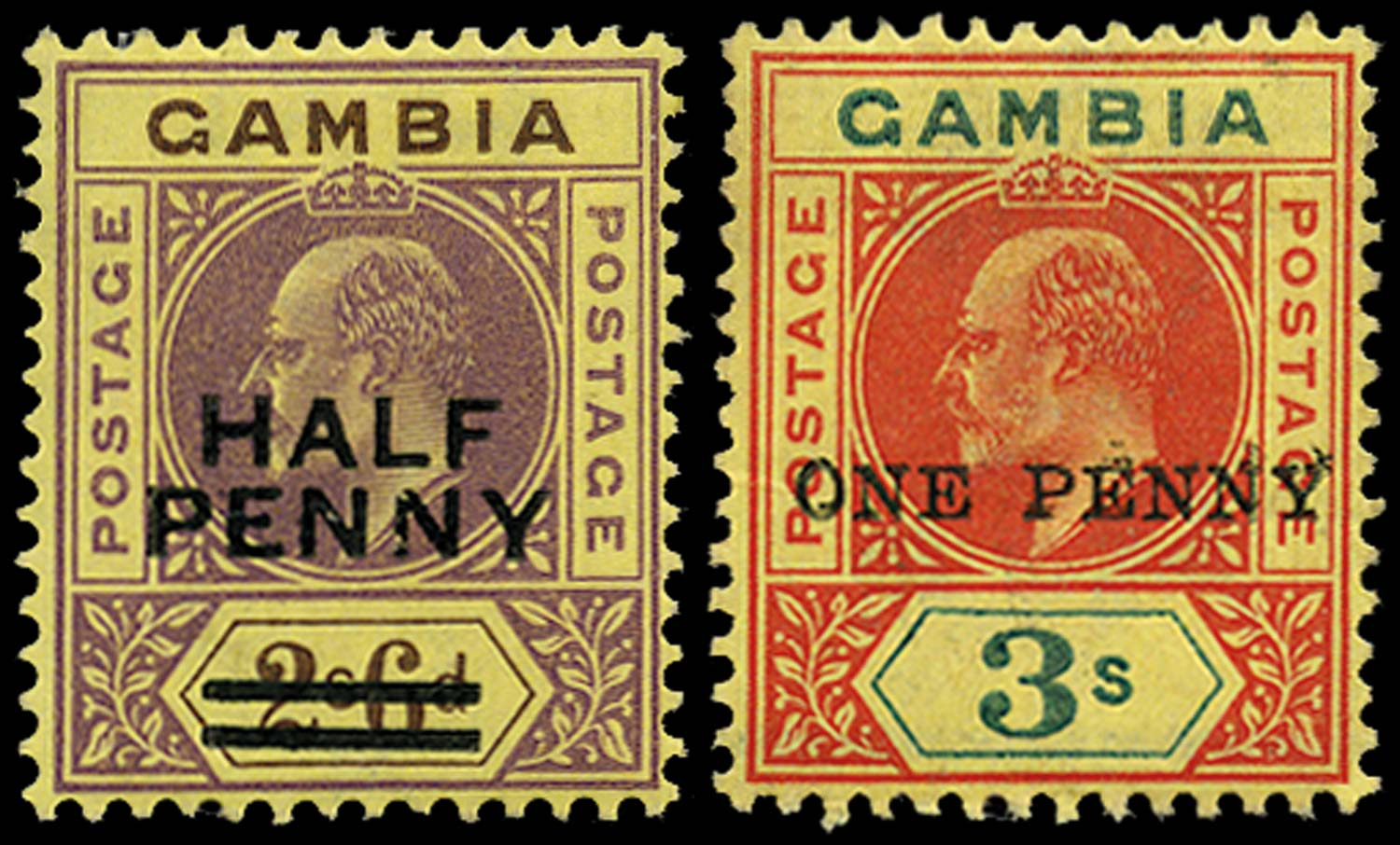 GAMBIA 1906  SG69/70 Mint