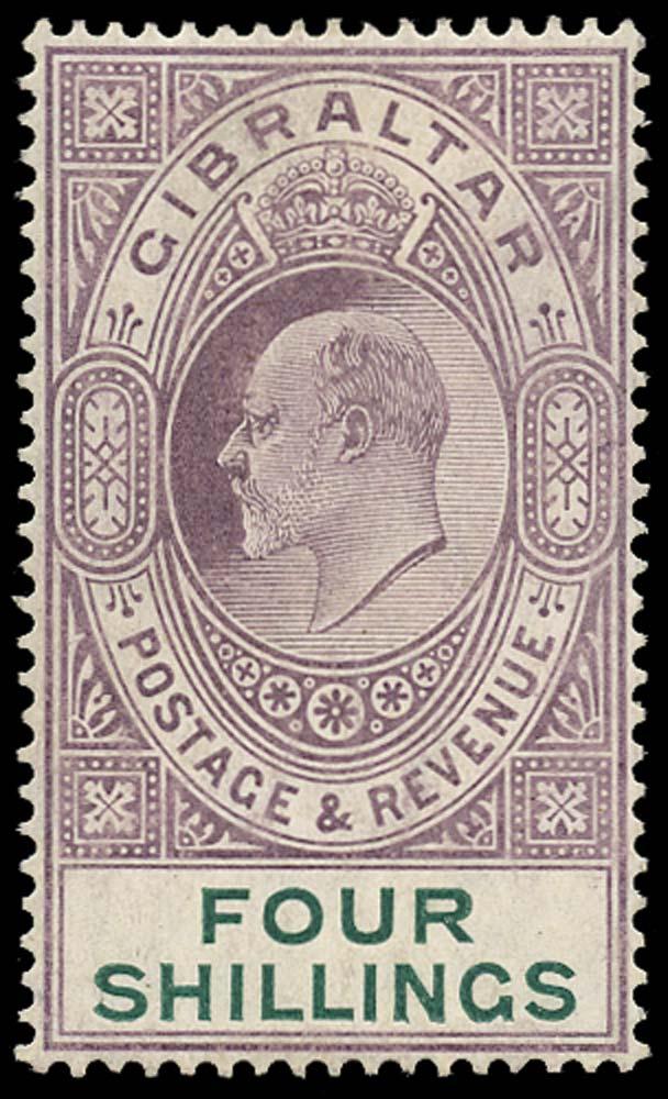 GIBRALTAR 1904  SG63 Mint