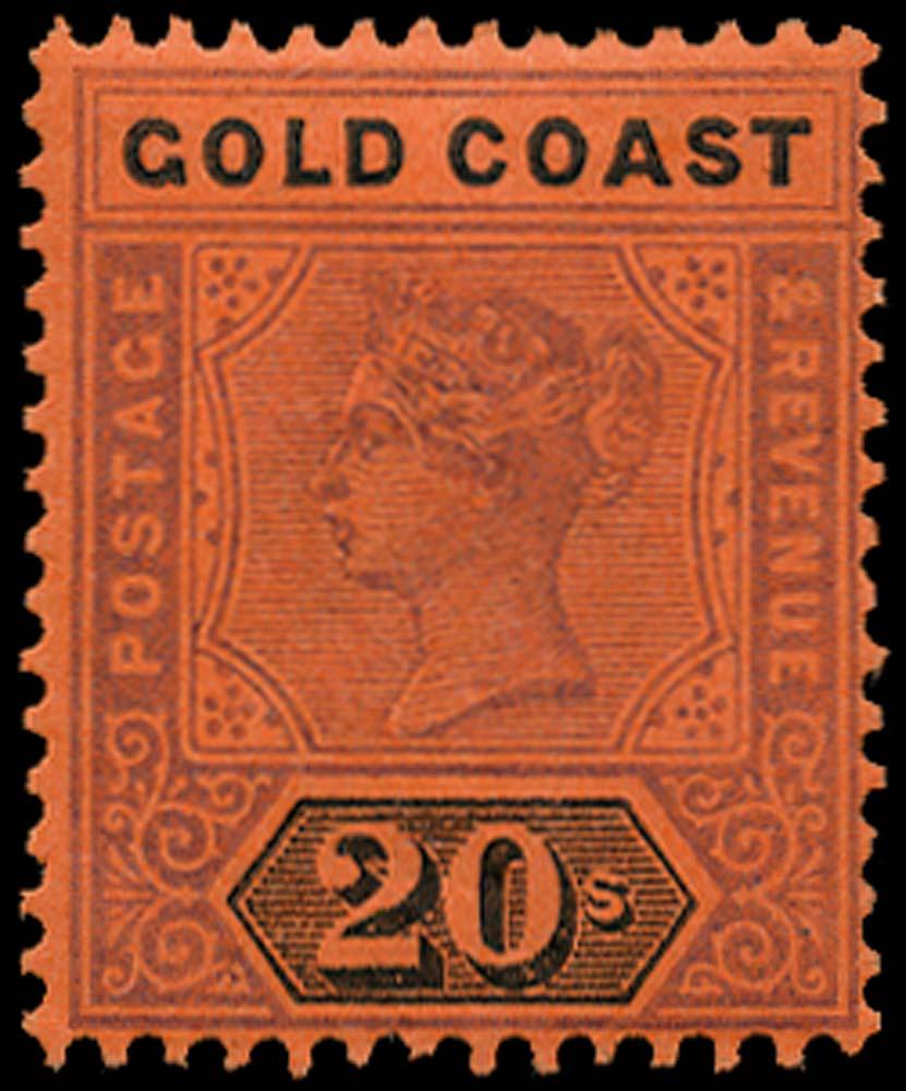 GOLD COAST 1889  SG25 Mint