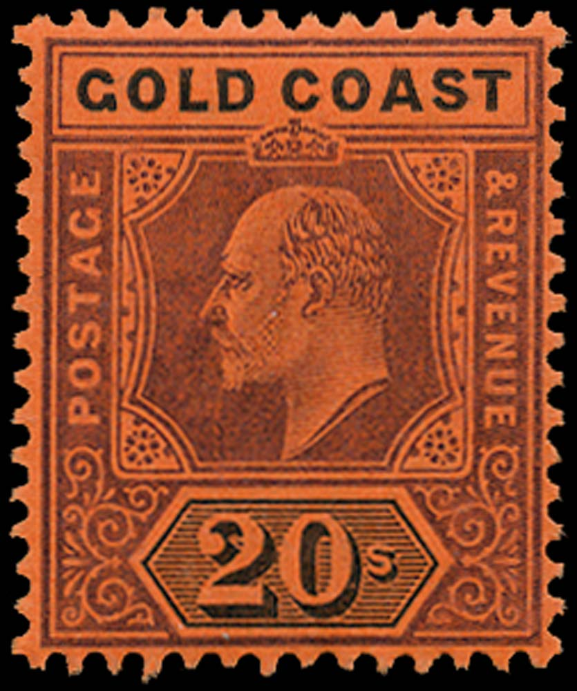 GOLD COAST 1902  SG48 Mint