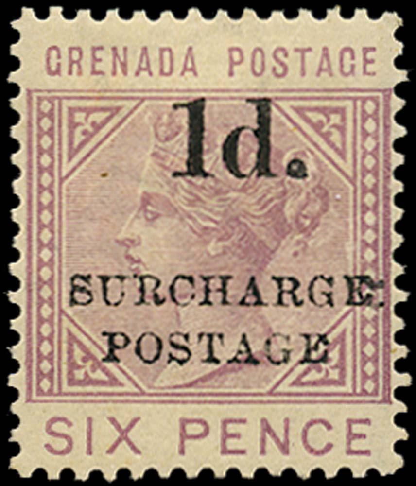 GRENADA 1892  SGD4 Postage Due