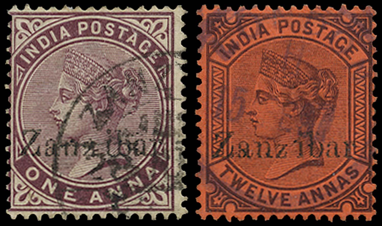 ZANZIBAR 1895  SG4D,17Dvar Used