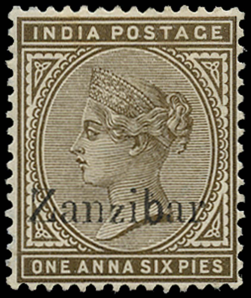ZANZIBAR 1895  SG5Dvar Mint