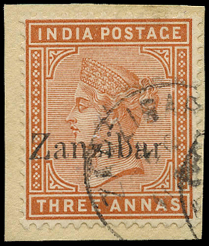 ZANZIBAR 1895  SG10I Used