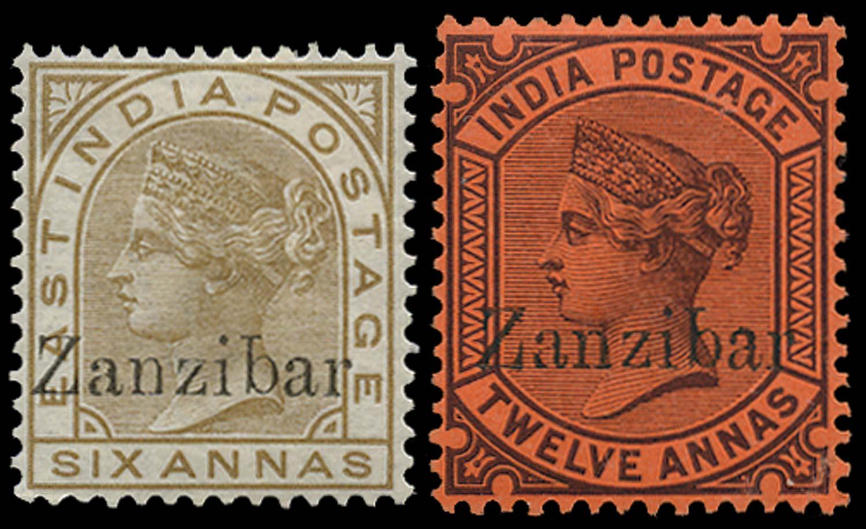 ZANZIBAR 1895  SG13H, 16H Mint