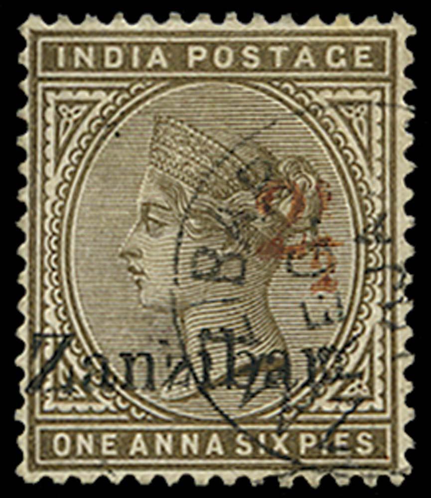 ZANZIBAR 1898  SG35D Used