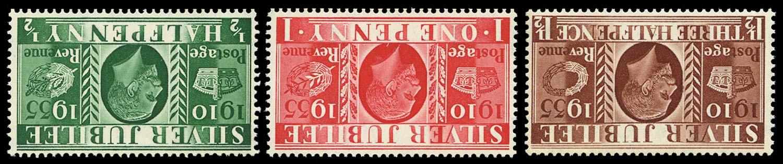 GB 1935  SG453/5wi Mint Wmk Inverted