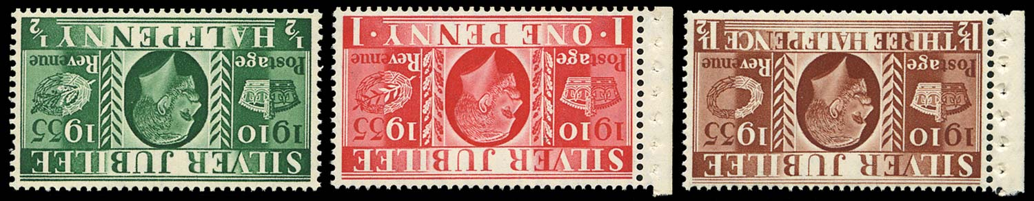 GB 1935  SG453/5wi Mint Wmk Inverted