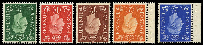 GB 1937  SG462/6wi Mint Wmk Inverted
