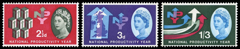 GB 1962  SG631/3p Mint