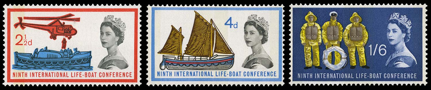 GB 1963  SG639/41p Mint Lifeboat conference
