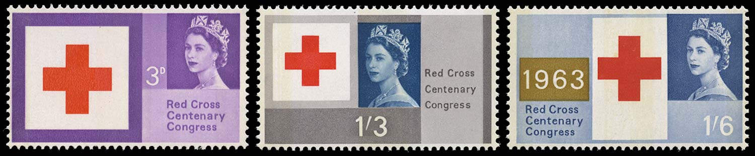 GB 1963  SG642/4p Mint Red Cross Centenary