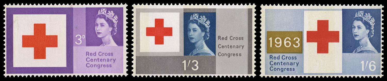 GB 1963  SG642/4p Mint Red Cross Centenary