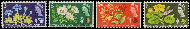 GB 1964  SG655/8p Mint Botanical Congess (Phosphor) set