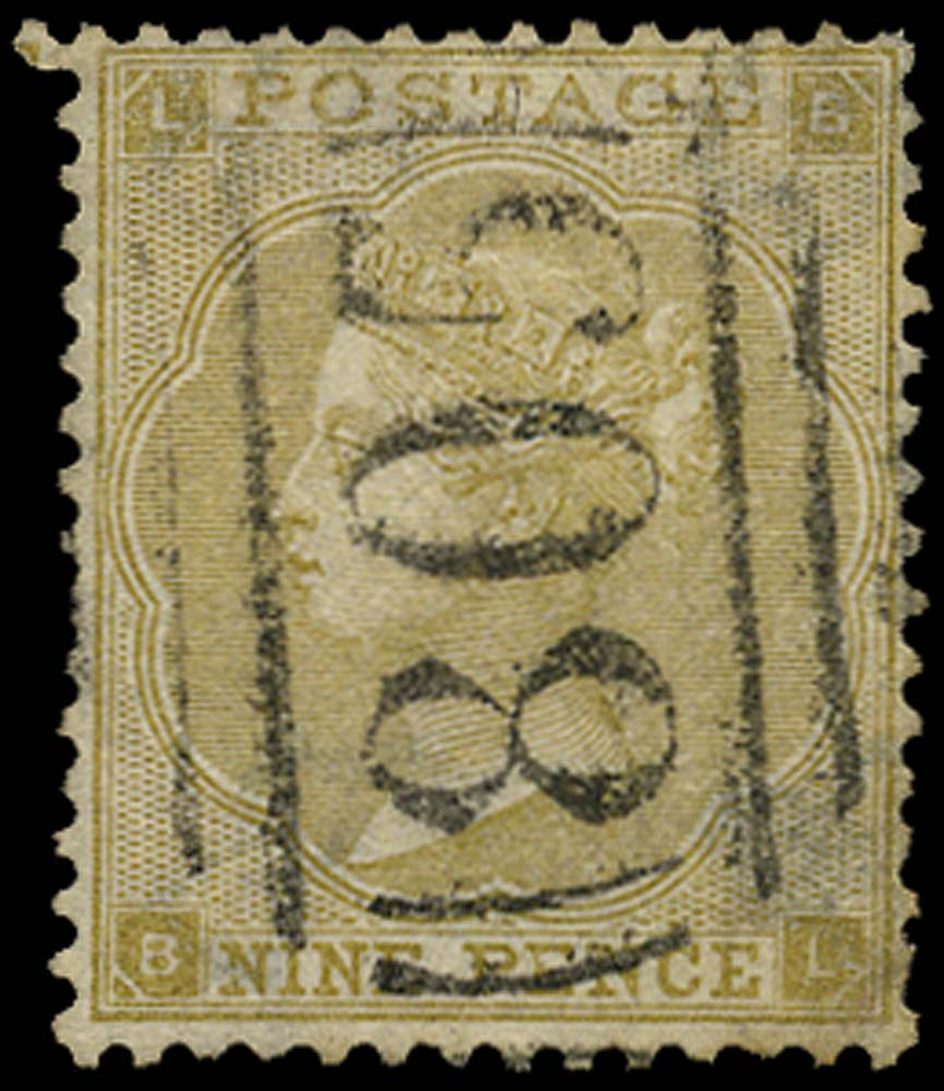 GB 1862  SG88 Pl.3 Used