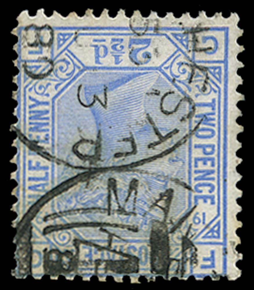 GB 1880  SG142wi Pl.19 Used Wmk Inverted example (GF)