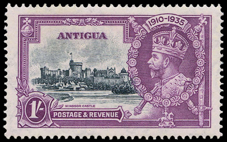 ANTIGUA 1935  SG94h Mint Silver Jubilee 1s Dot by Flagstaff