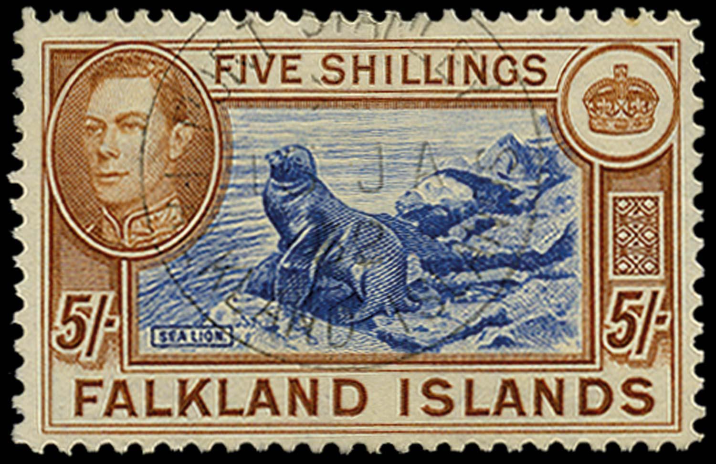 FALKLAND ISLANDS 1938  SG161d Used