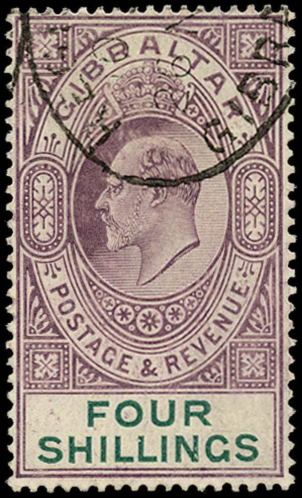 GIBRALTAR 1904  SG63 Used