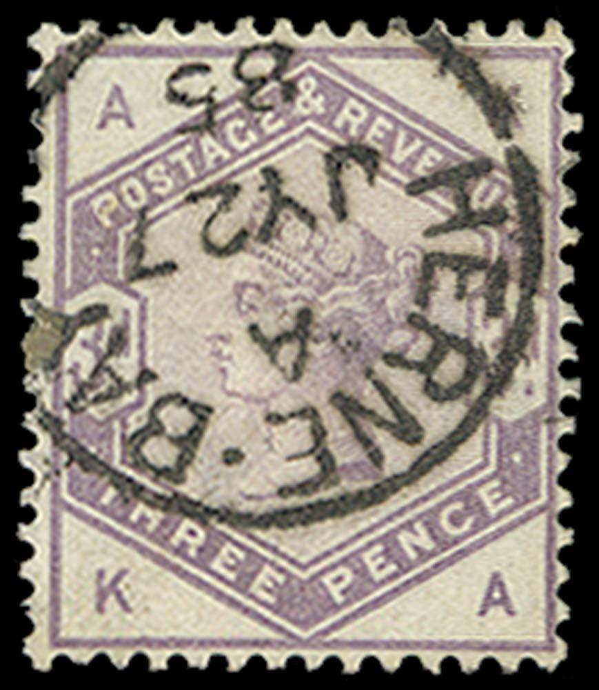 GB 1883  SG191 Used Herne Bay cds