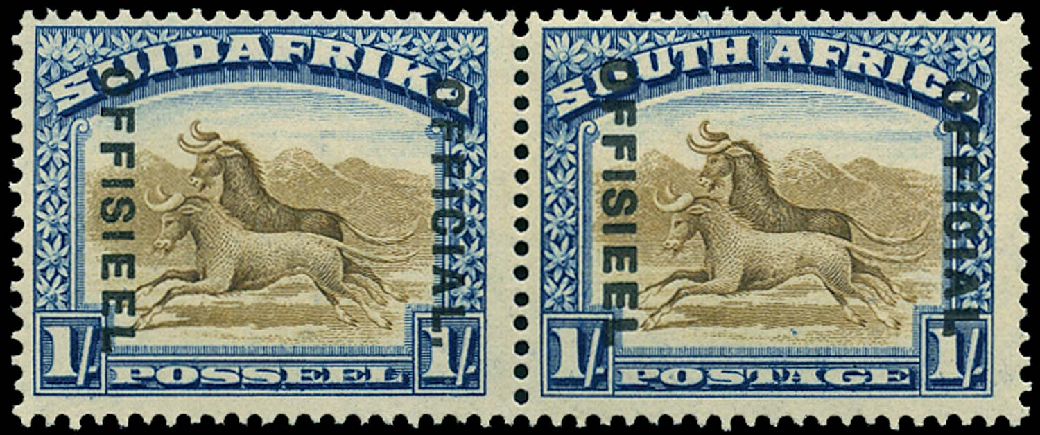 SOUTH AFRICA 1931  SGO10a Official 1s brown and deep blue Stop after OFFICIAL