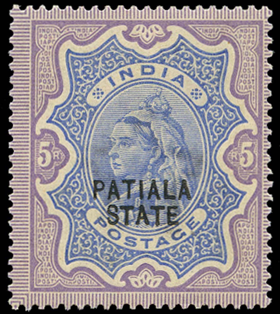 I.C.S. PATIALA 1891  SG31 Mint