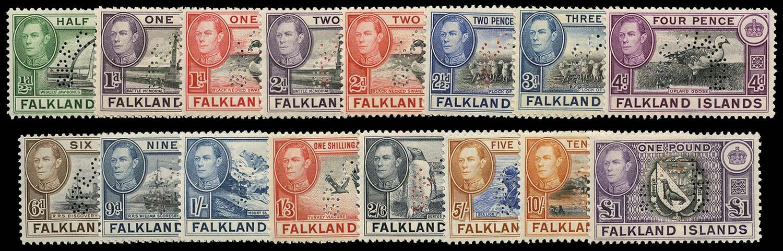 FALKLAND ISLANDS 1938  SG146s/63s Specimen