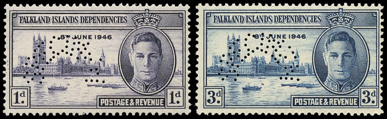 FALKLAND ISLANDS 1937  SG164s/5s Specimen