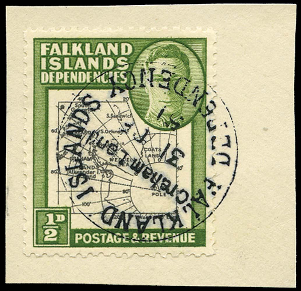 FALKLAND ISLAND DEPS 1946  SGG1aa Used