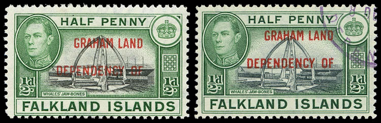 FALKLAND ISLAND DEPS 1944  SGA1a Used